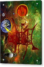 Clock Of Universe Acrylic Print by Helmut Rottler