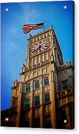 Acrylic Print featuring the photograph Clock Tower In Downtown Jackson 2 by Jim Albritton