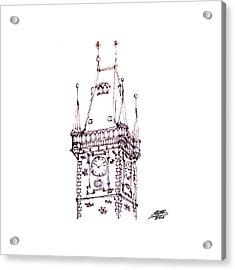 Clock Tower Acrylic Print by Steve Huang