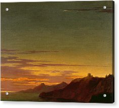 Close Of The Day - Sunset On The Coast Acrylic Print by Alexander Cozens