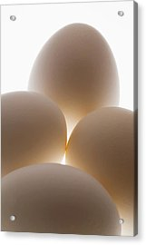 Close Up Of A Group Of Eggs Calgary Acrylic Print by Michael Interisano