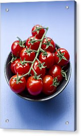 Close Up Of Bowl Of Cherry Tomatoes Acrylic Print by Brigitte Sporrer