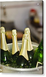 Close Up Of Bucket Of Champagne Acrylic Print