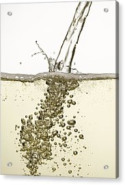 Close Up Of Champagne Being Poured Acrylic Print by Andy Roberts