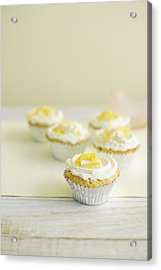 Close Up Of Cupcakes With Frosting Acrylic Print