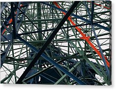 Close-up Of Ferris Wheel Mechanism Acrylic Print by Todd Gipstein