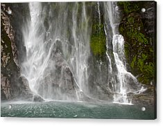 Close Up Of One Of The Many Waterfalls Acrylic Print by Brooke Whatnall