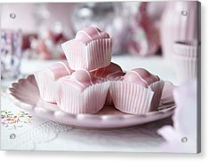Close Up Of Plate Of Candies Acrylic Print by Debby Lewis-Harrison