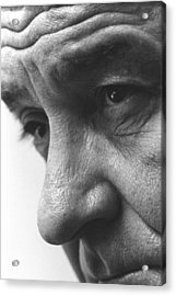 Close Up Of President Lyndon Johnson Acrylic Print by Everett