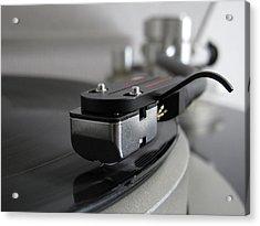 Close Up Of Record Player Acrylic Print by Hiroshi Uzu