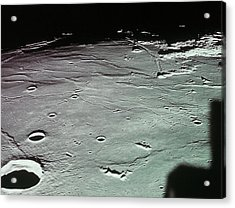 Close-up Of The Craters On The Surface Of The Moon Acrylic Print by Stockbyte