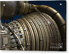 Close-up View Of A Rocket Engine Acrylic Print by Roth Ritter