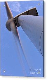 Closeup Of A Wind Turbine Acrylic Print by Jeremy Woodhouse