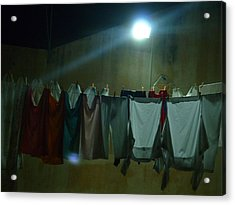 Acrylic Print featuring the photograph Clothes 1 by Beto Machado