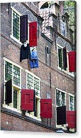 Clothes Hanging From A Window In Kattengat Acrylic Print