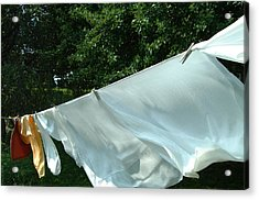 Acrylic Print featuring the photograph Clothes Line by Peg Toliver