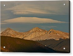 Cloud Cap Acrylic Print by Bob Berwyn