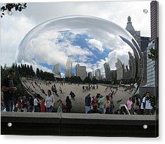 Cloud-gate-one Acrylic Print by Todd Sherlock
