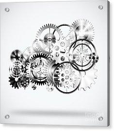 Cloud Made By Gears Wheels  Acrylic Print