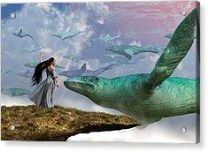 Cloud Whales Acrylic Print