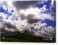 Clouded Hills At Nasik India Acrylic Print by Sumit Mehndiratta