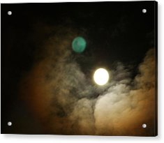 Clouded Moon Acrylic Print by Steve Sperry
