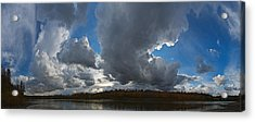 Clouds And River Edmonton Acrylic Print