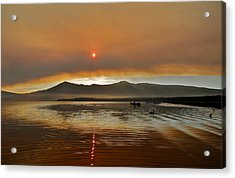 Clouds And Sun In A Smoky Sky Acrylic Print by Kirsten Giving
