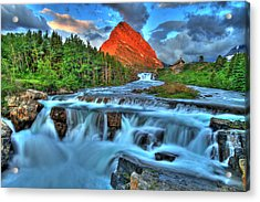 Clouds And Waterfalls Acrylic Print by Scott Mahon