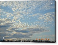 Clouds Before A Storm Acrylic Print by Heidi Frye