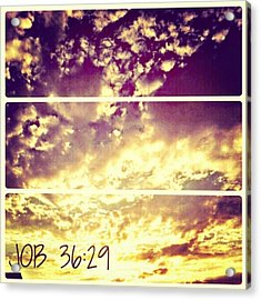 #clouds #bible #phonto #sky Acrylic Print by Kel Hill