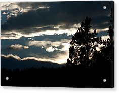 Clouds Giving Way To Sunset Acrylic Print by Jessica Lowell