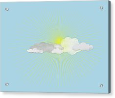 Clouds In Front Of The Sun Acrylic Print by Jutta Kuss