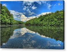 Clouds In The Lake Acrylic Print by Adam Jewell