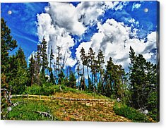 Clouds On My Hill Canada Acrylic Print by Rick Bragan