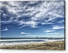 Clouds Over Imperial Beach Pier Acrylic Print