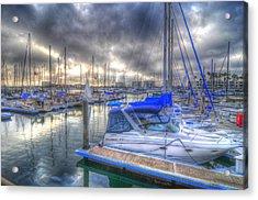Clouds Over Marina Acrylic Print