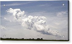 Acrylic Print featuring the photograph Clouds Over The Bay by Michael Friedman