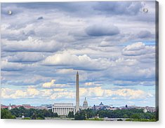 Clouds Over Washington Dc Acrylic Print by Metro DC Photography