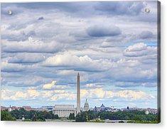 Clouds Over Washington Dc Acrylic Print