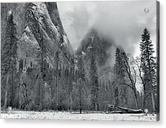 Clouds Over Yosemite Valley Acrylic Print by Stephen  Vecchiotti