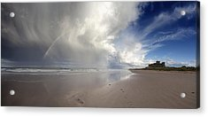 Clouds Reflected In The Shallow Water Acrylic Print by John Short