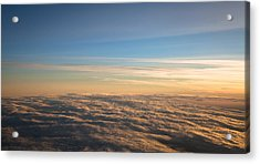 Cloudscape From A 757 Acrylic Print by David Patterson