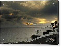 Cloudy Sunset Acrylic Print by Roberto Bettacchi