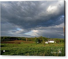 cloudy with a Chance of Paint 2 Acrylic Print by Trish Hale