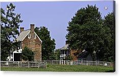 Clover Hill Tavern And Kitchen Appomattox Virginia Acrylic Print by Teresa Mucha