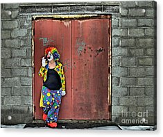 Clown Trash Acrylic Print