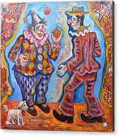 Clowns Acrylic Print by Milen Litchkov