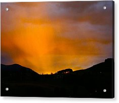 Co Alpenglow Acrylic Print by Kathryn Barry