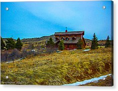 Acrylic Print featuring the photograph Co. Farm by Shannon Harrington